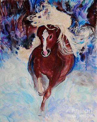 Wild Heart Running Poster by Helena Bebirian