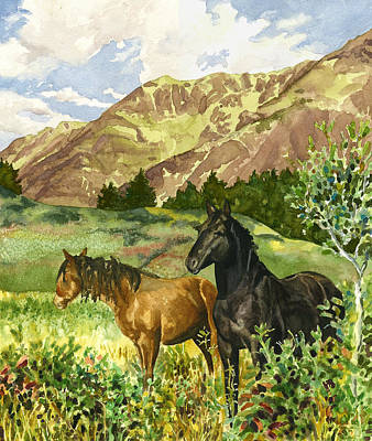 Wild Horses Poster by Anne Gifford