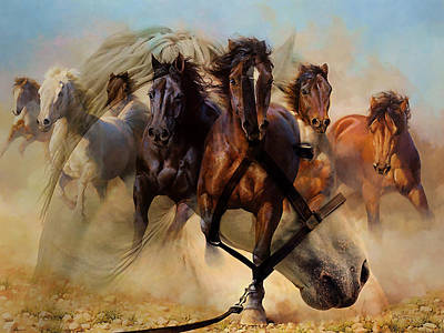 Wild Horses Poster by Marvin Blaine
