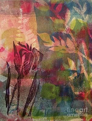 Wild Iris Poster by Cynthia Lagoudakis