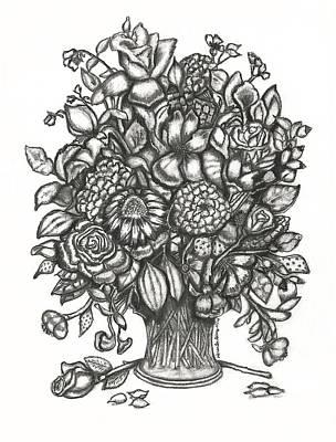 Wild Iris Roses Poster