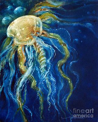 Wild Jellyfish Reflection Poster