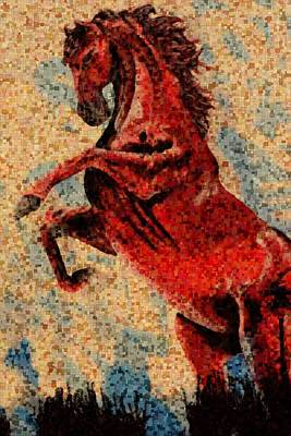Wild Red Horse Poster