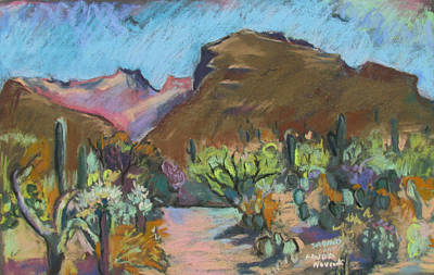 Poster featuring the painting Wild Tuscon by Linda Novick