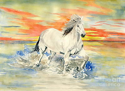 Wild White Horse Poster by Melly Terpening