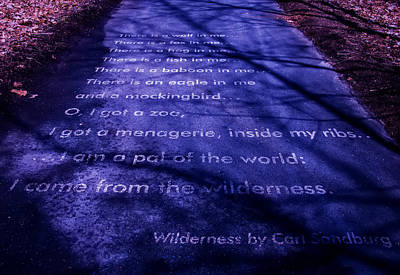 Wilderness - Carl Sandburg Poster