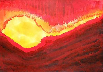Wildfire Original Painting Poster