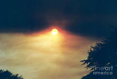 Poster featuring the photograph Wildfire Smoky Sky by Kerri Mortenson