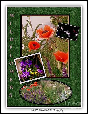 Wildflower Collage Poster