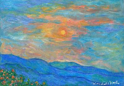 Wildflowers By A Blue Ridge Sunset Poster by Kendall Kessler