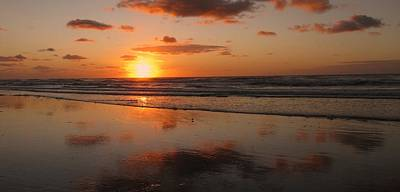 Wildwood Beach Sunrise Poster by David Dehner