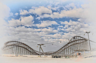 Wildwood Boardwalk Rollercoaster Poster by Bill Cannon