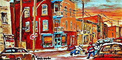 Wilenskys Paintings Hockey Art Prints Originals Commissions Contact Popular Montreal Artist Cspandau Poster