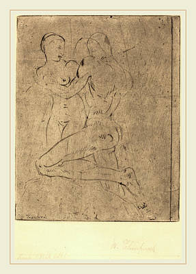 Wilhelm Lehmbruck, Rape II Raub II, Weib Halb Poster by Litz Collection