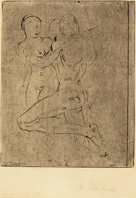 Wilhelm Lehmbruck, Rape II Raub II, Weib Halb Poster by Quint Lox