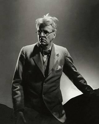 William Butler Yeats Wearing A Three-piece Suit Poster by Edward Steichen