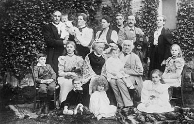 William Gladstone With Family Poster by Underwood Archives
