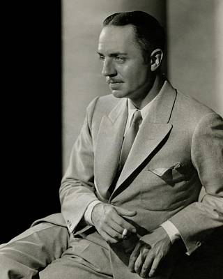 William Powell Wearing A Suit Poster by Barnaba
