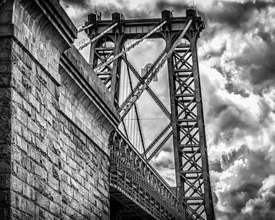 Poster featuring the photograph Williamsburg Bridge From Brooklyn New York by Linda Karlin