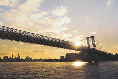 Williamsburg Bridge - Sunset - New York City Poster by Vivienne Gucwa
