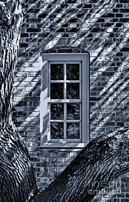 Poster featuring the photograph Williamsburg Window by Nigel Fletcher-Jones