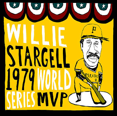 Willie Stargell Pittsburgh Pirates Poster by Jay Perkins