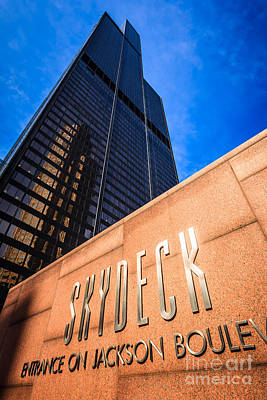 Willis-sears Tower Skydeck Sign Poster by Paul Velgos