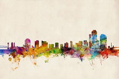Wilmington Delaware Skyline Poster by Michael Tompsett