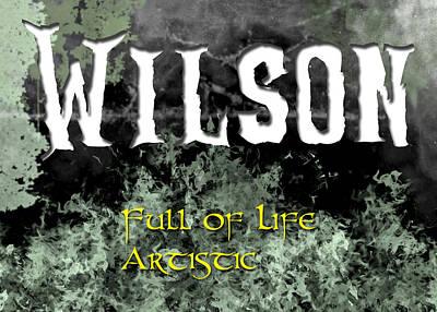 Wilson - Full Of Life Artistic Poster by Christopher Gaston