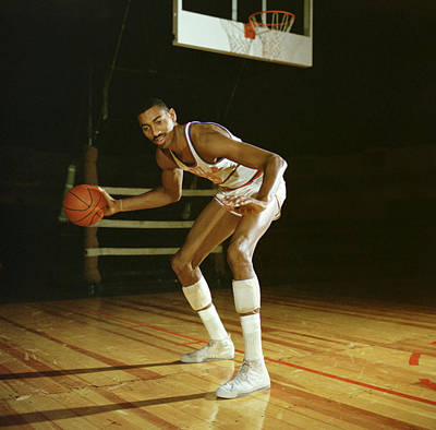 Wilt Chamberlain Dribbling Poster by Retro Images Archive