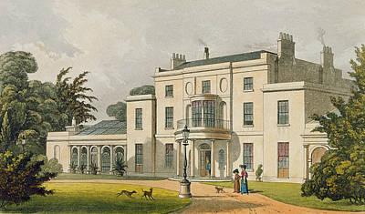 Wimbledon House, From Ackermanns Poster by Thomas Hosmer Shepherd