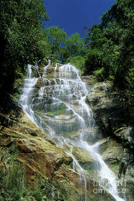 Winay Wayna Waterfall Poster by James Brunker
