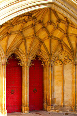 Winchester Cathedral Archway - Mike Hope Poster