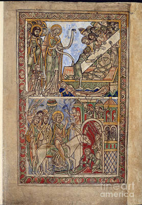 Winchester Psalter Poster by British Library