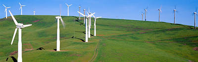 Wind Energy Windmills Along Route 580 Poster