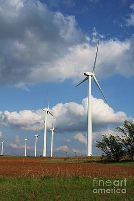 Poster featuring the photograph Wind Farm And Red Dirt by Jim McCain