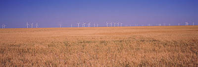 Wind Farm At Panhandle Area, Texas, Usa Poster