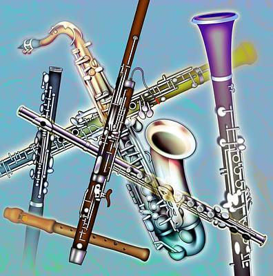 Wind Instruments Poster by Design Pics Eye Traveller