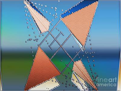Poster featuring the digital art Wind Milling by Luc Van de Steeg