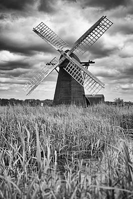 Wind Pump At Herringfleet Poster