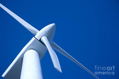 Wind Turbine Tungsten Poster by Colin and Linda McKie