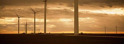 Wind Turbines In A Field, Amarillo Poster
