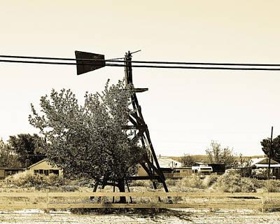 Wind Vane In Boron California Poster by Charlette Miller