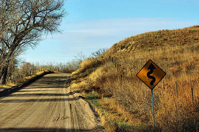 Poster featuring the photograph Winding Country Road by Bill Kesler