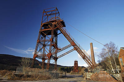 Winding Gear At Cefn Coed Colliery  Poster
