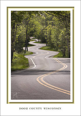 Winding Road Door County Poster