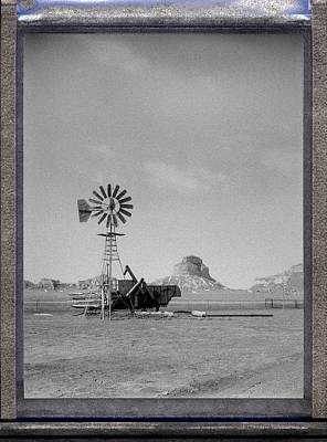Windmill At The Bluffs Poster