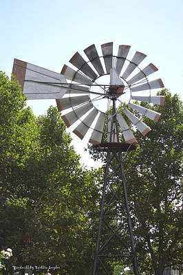 Windmill Poster by Barbara Snyder