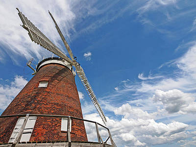 Windmill In The Sky Poster by Gill Billington