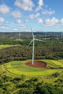 Windmill, North Shore, Oahu, Hawaii Poster by Douglas Peebles